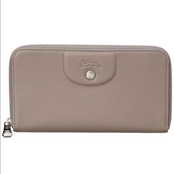baf8d6c910 Longchamp Bags | Womens Le Pliage Cuir Leather Zip Wallet | Poshmark